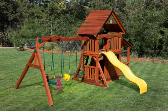 Wooden Play Set with Playhouse