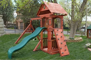 The perfect wooden swing sets for small for Small wooden swing sets