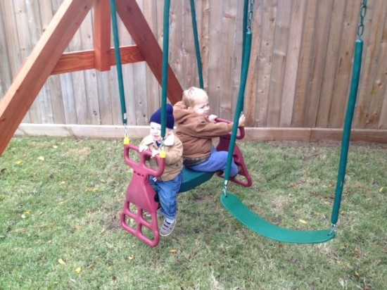 Backyard Wooden Swingset Houston