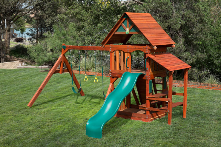 Swing set 2 with picnic table and roof