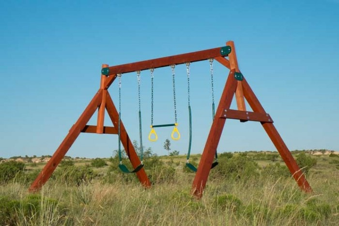 Double A Frame Swing Set By West Texas Swing Setswesttexasswingsets Com