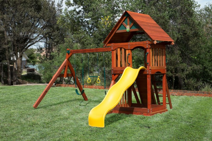 Wooden Play Set 2 with wave slide can be delivered and installed to Plano TX