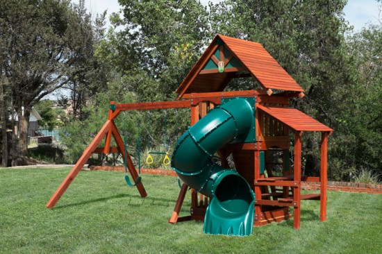 Wooden Swing Sets in Colorado
