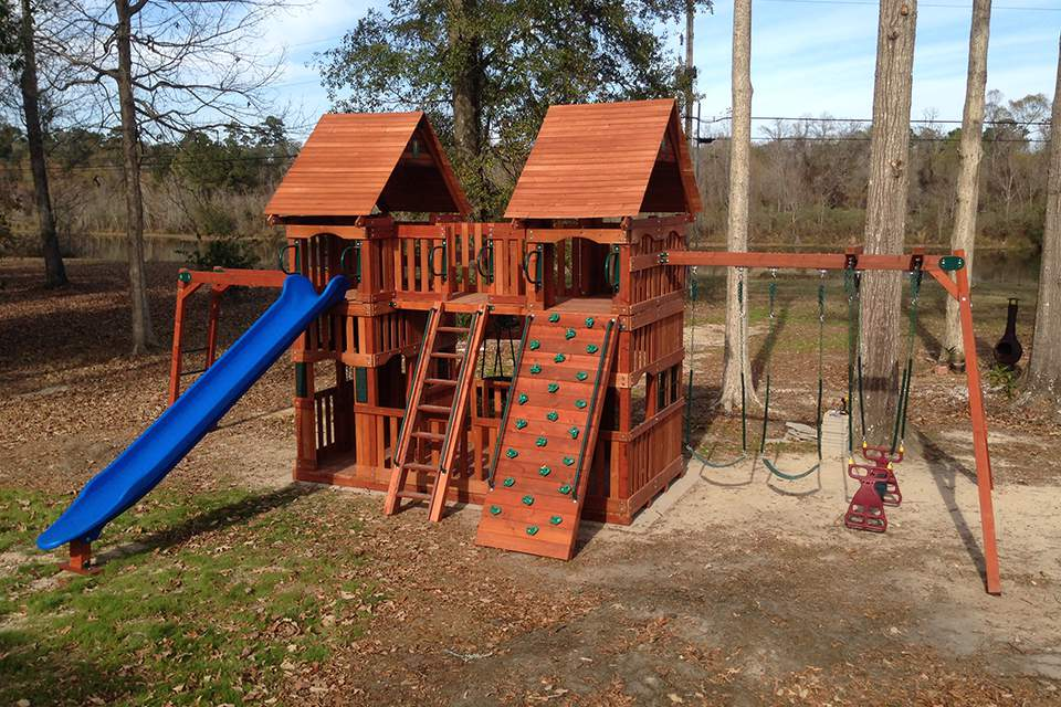 Wooden Custom Swingset Baton Rouge, La