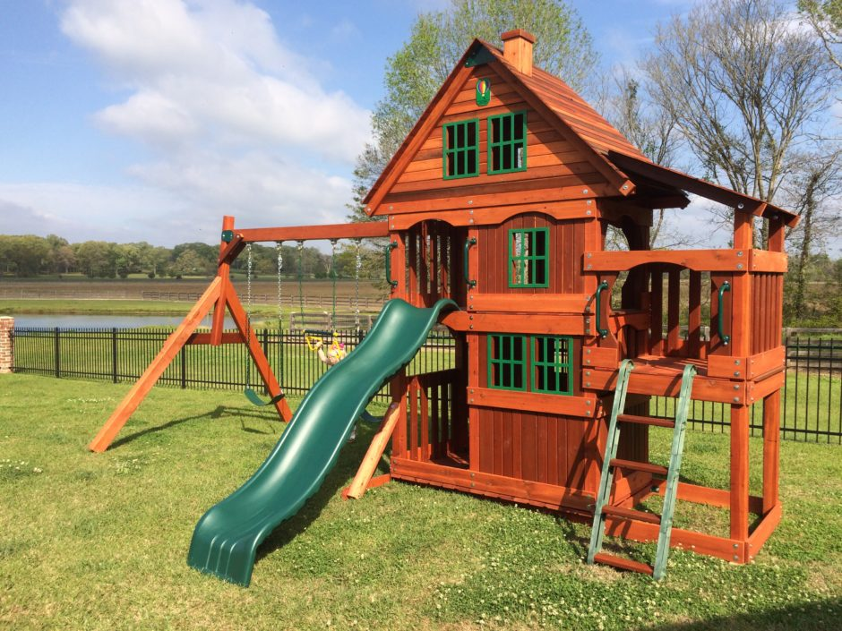 Amarillo Wooden Swing Set Install