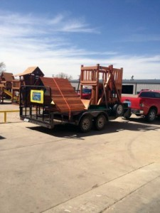 Wooden Swing Set install in Pampa Tx