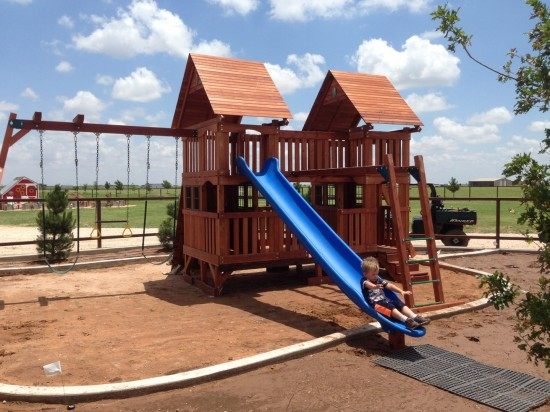 New Mexico Wooden Swing Set