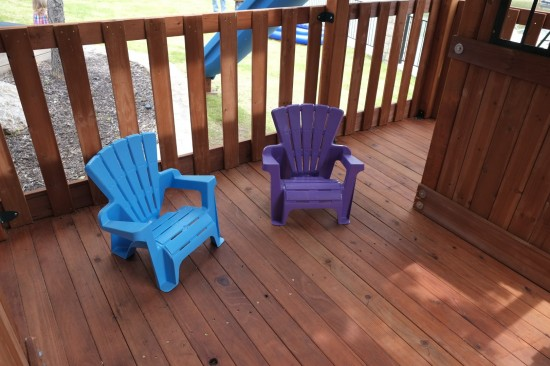 Wooden Swing Set Porch